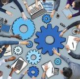 Executivos e ilustrações da foto das engrenagens Fotografia de Stock