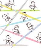 Executivos e sentidos dos desenhos animados Imagens de Stock