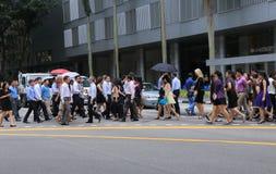 Executivos em Singapura foto de stock royalty free