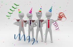 Executivos em um partido da empresa Imagens de Stock Royalty Free