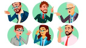 Executivos em um vetor do furo Conceito do comportamento da sociedade Ilustração lisa isolada dos desenhos animados ilustração stock