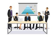 Executivos em uma ilustração da reunião ilustração stock