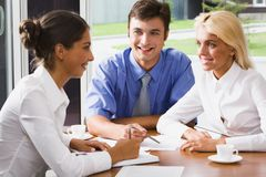 Executivos em uma reunião Fotografia de Stock