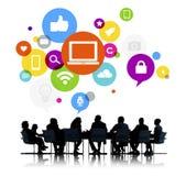 Executivos em uma reunião Imagens de Stock Royalty Free