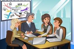 Executivos em uma reunião ilustração stock