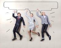 Executivos engraçados Imagens de Stock