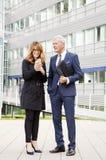 Executivos felizes Foto de Stock Royalty Free