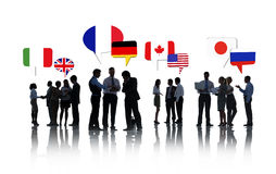 Executivos internacionais da fala Foto de Stock