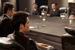 Executivos na reunião fotografia de stock royalty free