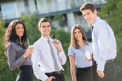Executivos na ruptura de café imagem de stock
