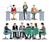 Executivos no escrit?rio ilustração royalty free