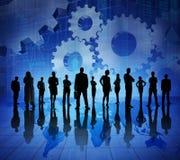 Executivos no mundo crescendo econômico fotos de stock