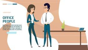 Executivos no Web site do vetor dos desenhos animados do escritório ilustração do vetor