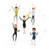Executivos novos felizes Equipe do negócio dos empregados Equipe de h Fotos de Stock