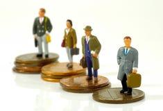 Executivos pequenos foto de stock