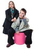 Executivos pequenos Fotografia de Stock Royalty Free