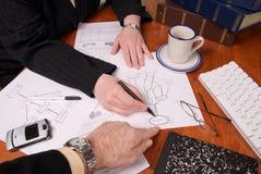 Executivos planear Fotografia de Stock Royalty Free