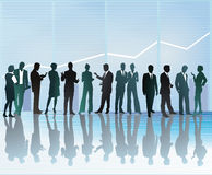 Executivos que comunicam-se ilustração royalty free