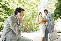 Equipe do negócio na reunião. Imagens de Stock