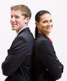 Executivos que estão de volta à parte traseira Fotografia de Stock Royalty Free