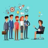 Executivos que estão em uma linha Foto de Stock Royalty Free