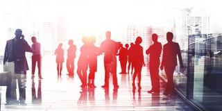 Executivos que falam o conceito da conversação da conexão fotografia de stock