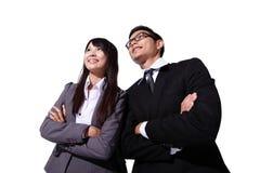 Executivos que olham ao futuro Imagem de Stock Royalty Free
