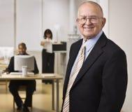 Executivos que trabalham no escritório Imagens de Stock Royalty Free