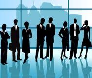 Executivos - silhueta do vetor Imagens de Stock Royalty Free
