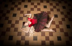 Executor da bailarina na cidade imagens de stock