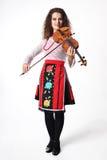 Executor da música com violino imagem de stock