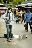 Executor da rua em Banguecoque fotografia de stock royalty free