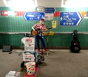 Executor da rua em Hong Kong foto de stock royalty free