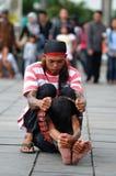 Executor da rua em Indonésia Imagem de Stock Royalty Free