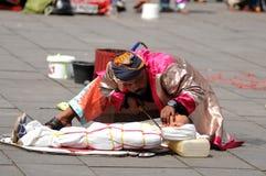 Executor da rua em Indonésia Imagens de Stock