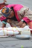 Executor da rua em Indonésia Foto de Stock