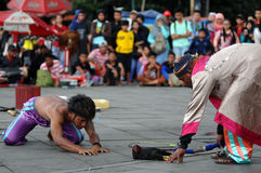Executor da rua em Indonésia Fotografia de Stock Royalty Free