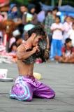 Executor da rua em Indonésia Imagens de Stock Royalty Free