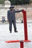 Executor da rua em Roma, Italy Fotos de Stock