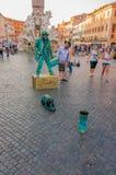 Executor da rua no quadrado de Navona Foto de Stock