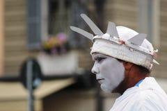 Executor da rua vestido como a estátua da liberdade em Roma, Itália Fotografia de Stock