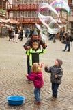 Executor das bolhas de sabão Fotografia de Stock Royalty Free