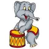 Executor de circo do elefante Fotografia de Stock Royalty Free