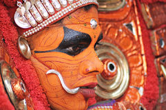 Executor de Theyyam fotografia de stock