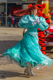 Executor Disneylândia da menina Fotografia de Stock
