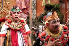 Executor do Balinese em uma cerimônia de Barong Imagens de Stock Royalty Free