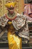 Executor do Balinese em uma cerimônia de Barong Foto de Stock
