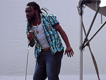 Executor do festival da reggae de Newport foto de stock royalty free