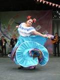 Executor mexicano da mulher Fotografia de Stock