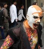 Executor no festival 2015 da franja de Edimburgo Imagens de Stock Royalty Free